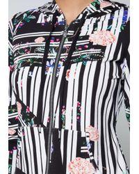 Bebe - Multicolor Logo Print Hoodie - Lyst