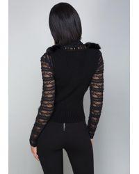 Bebe - Black Faux Fur Vest - Lyst