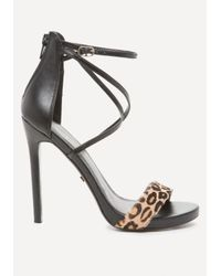 Bebe - Multicolor Layla Calf Hair Sandals - Lyst