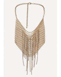 Bebe - Metallic Chainmail Bib Necklace - Lyst