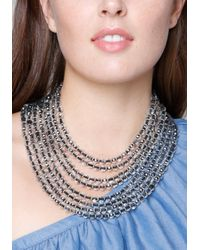 Bebe - Multicolor Beaded Waterfall Necklace - Lyst