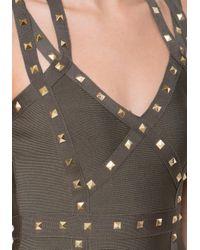 Bebe - Green Embellished 3-strap Dress - Lyst