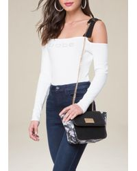 Bebe | White Winter Rose Crossbody Bag | Lyst