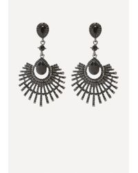 Bebe | Metallic Fanned Out Earrings | Lyst