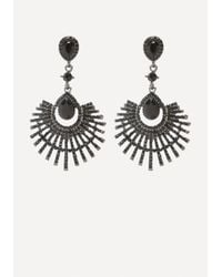 Bebe - Metallic Fanned Out Earrings - Lyst