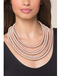 Bebe - Metallic Coil Strand Necklace - Lyst