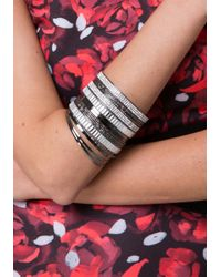 Bebe - Black Crystal Bangle Set - Lyst