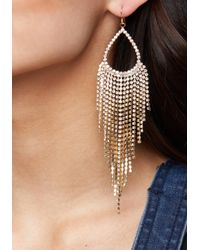 Bebe - Metallic Crystal Duster Earrings - Lyst