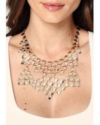 Bebe - Metallic Teardrop Bib Necklace - Lyst