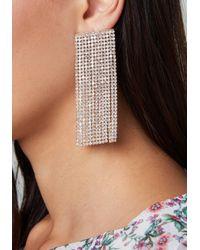 Bebe - Metallic Crystal Wide Earrings - Lyst