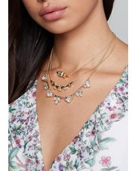 Bebe - Multicolor Crystal 3-layer Necklace - Lyst