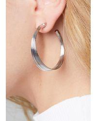 Bebe - Metallic Multi-wire Hoop Earrings - Lyst
