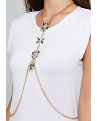 Bebe - Natural Ornate Jewel Body Chain - Lyst