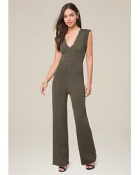 Bebe - Multicolor Pointelle Knit Jumpsuit - Lyst