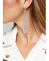 Bebe - Multicolor Crystal Linear Earrings - Lyst