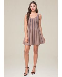 Bebe - Multicolor Leilani Fit & Flare Dress - Lyst