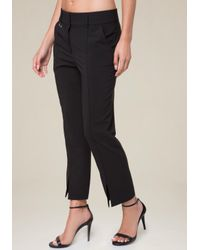Bebe - Multicolor Vented Flare Crop Pants - Lyst