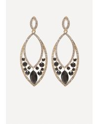 Bebe - Metallic Faux Jet Statement Earrings - Lyst