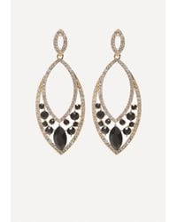 Bebe | Metallic Faux Jet Statement Earrings | Lyst