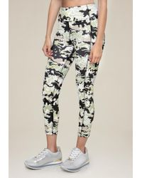Bebe - Black Print Crop Leggings - Lyst