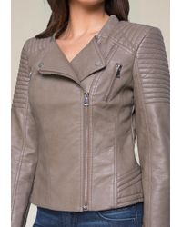 Bebe - Multicolor Quilted Moto Jacket - Lyst