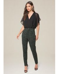 Bebe - Multicolor 2-tone Floral Lace Pants - Lyst