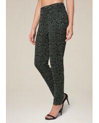 Bebe - Multicolor 2-tone Floral Lace Pants - Lyst