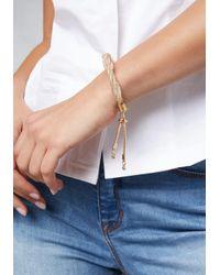 Bebe - Multicolor Mesh Twist Bracelet - Lyst