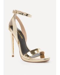 Bebe - Multicolor Selina High Shine Sandals - Lyst