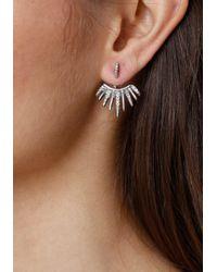 Bebe - Metallic Starburst Earrings - Lyst