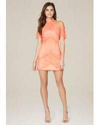 Bebe | Orange Kendall Lace Dress | Lyst