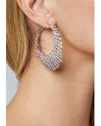 Bebe Metallic Cutout Hoop Earrings
