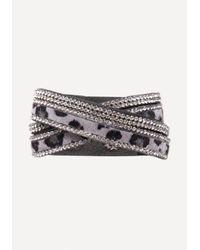 Bebe - Multicolor Faux Leopard Wrap Bracelet - Lyst