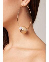 Bebe - Multicolor Bead Hoop Earrings - Lyst