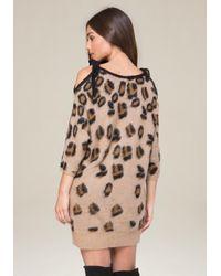 Bebe - Multicolor Brushed Leopard Dress - Lyst