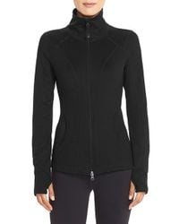 Zella | Black Stand-Collar Sports Jacket  | Lyst