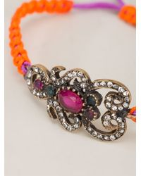 Katerina Psoma - Orange Bejewelled Friendship Bracelet - Lyst