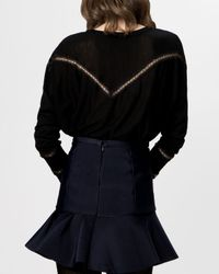 Maje - Black Sweater - Gravure Novelty - Lyst