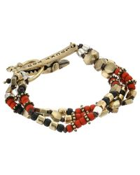 Lucky Brand | Brown Beaded Faux Suede Wrap Bracelet | Lyst