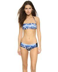 Zero + Maria Cornejo - Blue Swim Night Sky Bandeau Top - Night Sky - Lyst