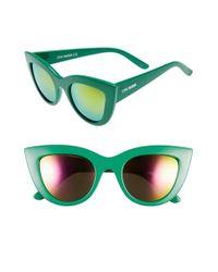 Steve Madden Green 51mm Cat Eye Sunglasses