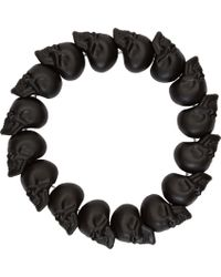 Alexander McQueen - Black Skull Bead Bracelet for Men - Lyst