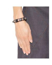 Balenciaga - Black Giant Stud Leather Bracelet - Lyst