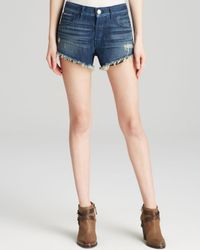 3x1 - Blue 'wm5' Distressed Cutoff Denim Shorts - Lyst