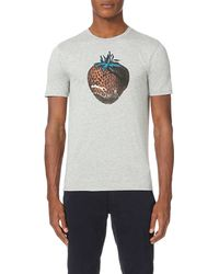 Paul Smith | Gray Strawberry Regular-fit Cotton-jersey T-shirt for Men | Lyst