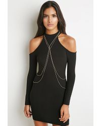 Forever 21 - Metallic Draped Body Chain - Lyst