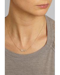 Jennifer Meyer - Metallic I Heart Nyc 18-Karat Gold Diamond Necklace - Lyst