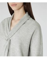 Reiss - Gray Lemaire Twist-front Jumper - Lyst