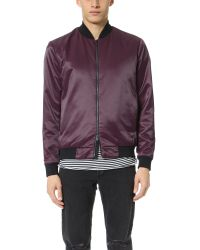 Theory | Purple Volter Catalyst Bomber for Men | Lyst