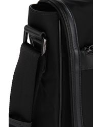 HUGO - Black Shoulder Bag With Leather Detailing: 'digital L_mess Flap' for Men - Lyst